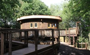 Blue Forest built this innovative NHS woodland retreat to help vulnerable children at Fairfield General Hospital in Bury.