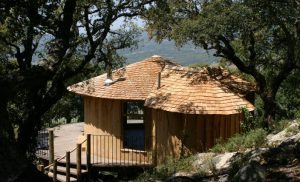 The Tarifa Ecolodge, built and designed by Blue Forest,  makes use of solar energy and has a water purification system.