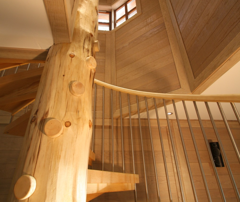 The Center Parcs treehouses, designed by Blue Forest, are made from natural timber.