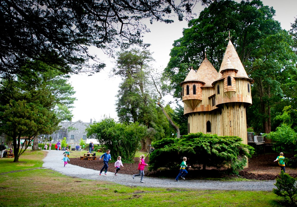The Birr Castle treehouse, built and designed by Blue Forest, is the tallest treehouse in Ireland.
