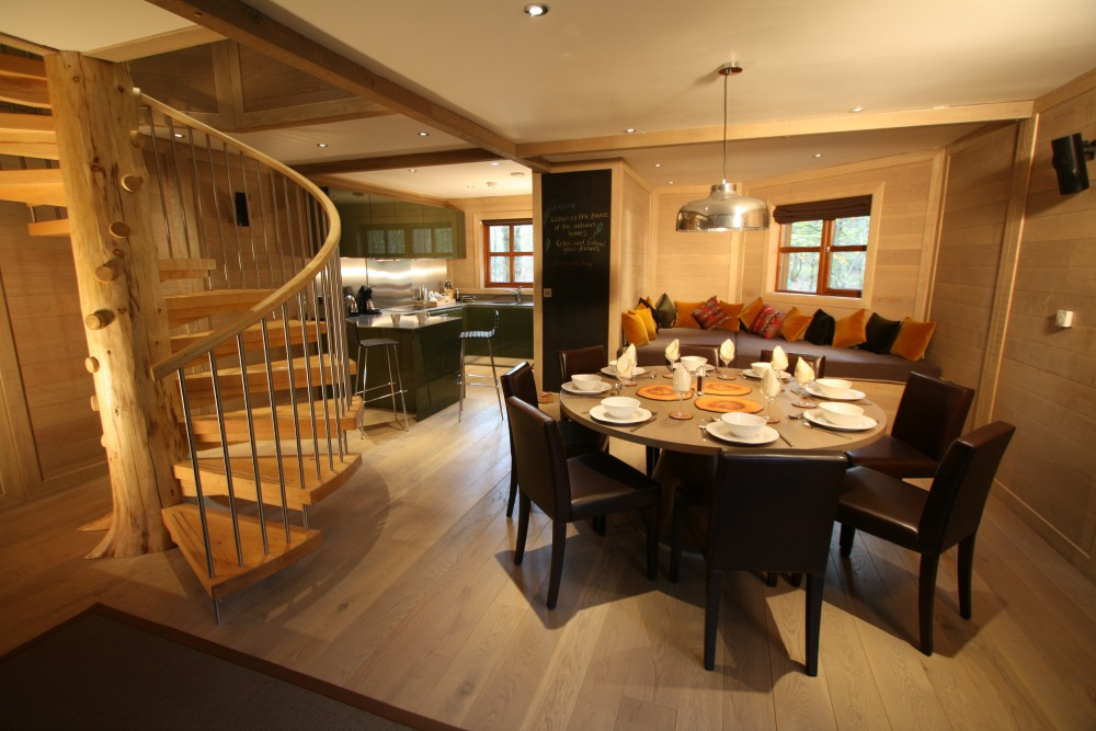 The natural exteriors of the Center Parcs treehouses, designed by Blue Forest, compliment the modern and luxurious interiors.