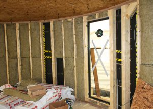 The interior is insulated with Rockwool.