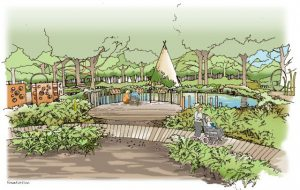 The woodland walk at Chestnut Tree House will give children and young adults a space to enjoy the outdoors.
