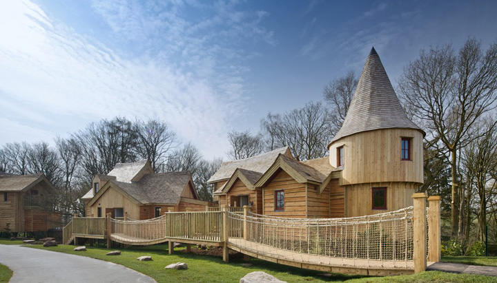 The Alton Towers Enchanted Village is comprised of five luxury treehouses, designed and built by Blue Forest.