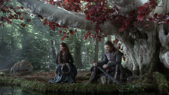 The weirwoods in the popular Game of Thrones are sacred trees.