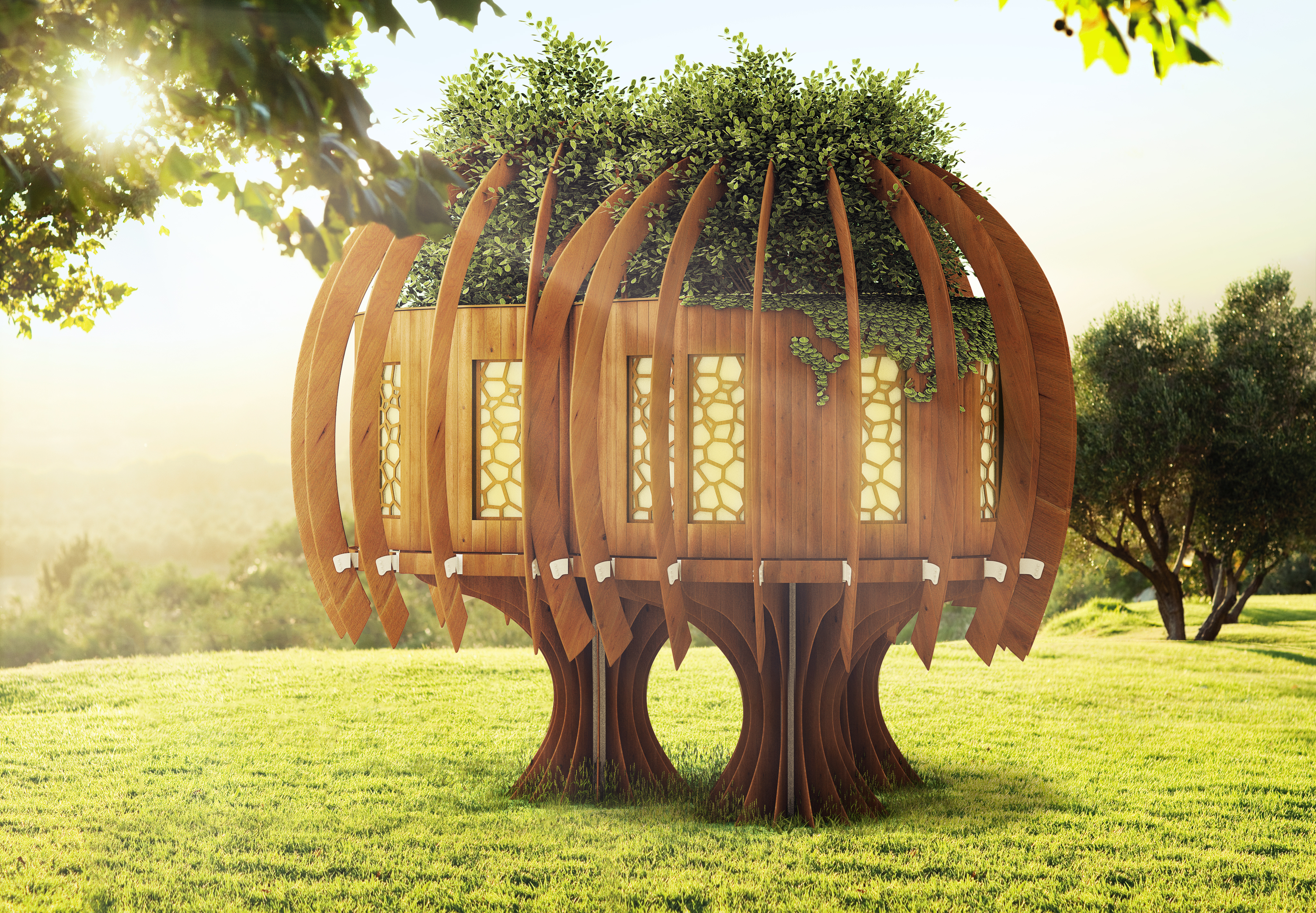 Quiet Mark Treehouse Finds A New Home At Kew Gardens Blue Forest
