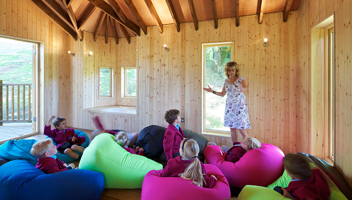 Hazelwood School Treehouse, built and designed by Blue Forest, encourages imaginative and creative play