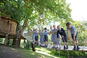 The pupils of Hazelwood School love their new Treehouse, built and designed by Blue Forest,
