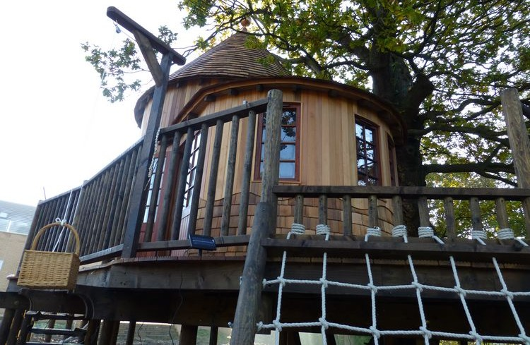 Treetop Tower, built and designed by Blue Forest, is constructed from premium grade cedar wood.