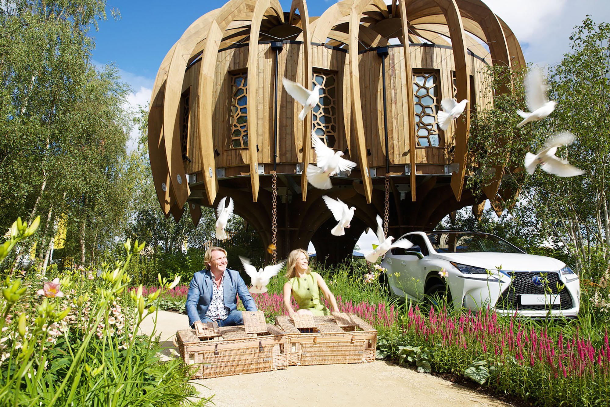 The Quiet Mark Treehouse Garden By John Lewis Blue Forest