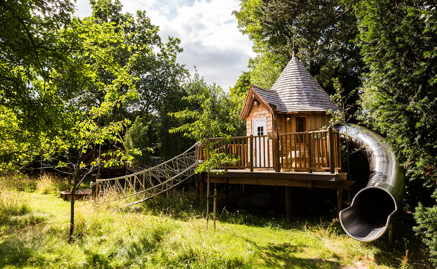 Bespoke Treehouse Designers Blue Forest